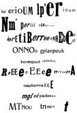 Raoul HAUSMANN - KP'ERIOUM, Poème optophonétique, 1918
