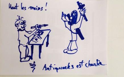 ANTIQUARKS EST CHARLIE ! → Lire le post d'Antiquarks sur notre mur FACEBOOK