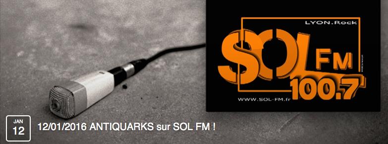 ÉVÉNEMENT / ITW SUR SOL FM 100.7 @ SOL FM sur 100.7 | Oullins | Rhône-Alpes | France