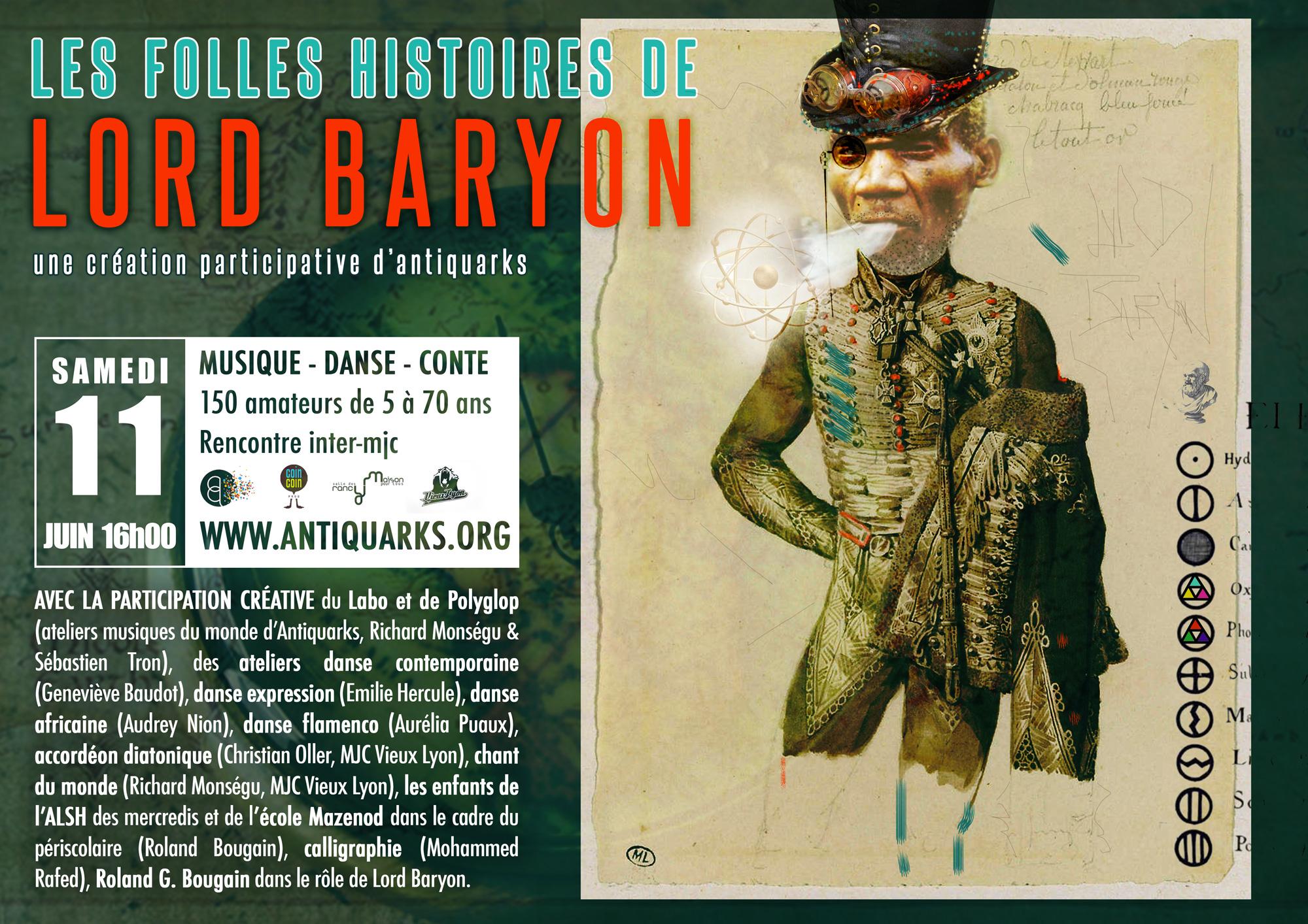 Les folles histoires de Lord Baryon / une création participative d'Antiquarks (musique, danse, conte) @ Maison Pour Tous - Salle des Rancy | Lyon | Rhône-Alpes | France